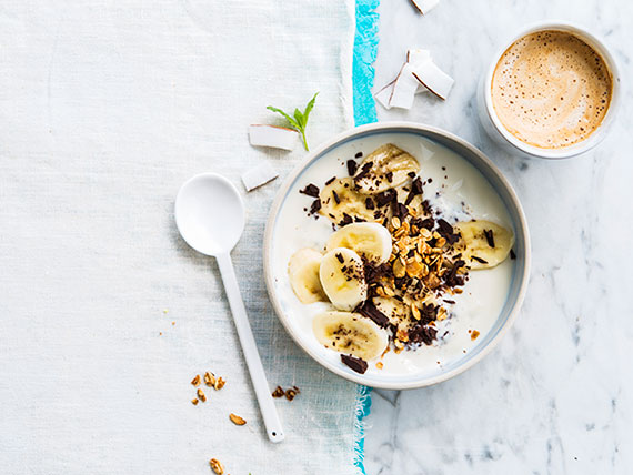 Granola bananes-chocolat