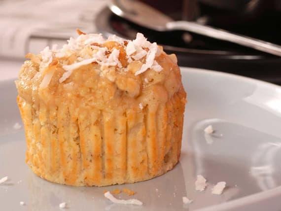 Muffins citrouille et noix de coco grillée sans produit laitier