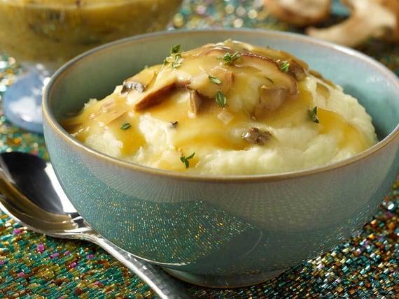 Purée de panais aux truffes, sauce aux champignons | Silk