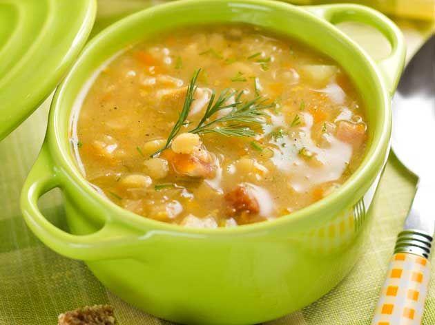 Soupe au tapioca et aux légumes d'automne
