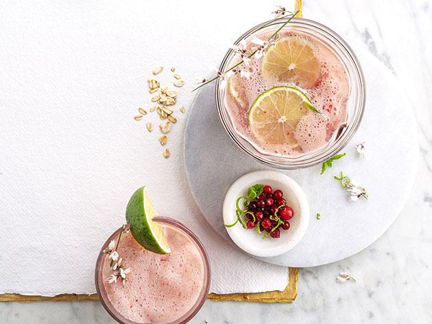 Mocktail aux canneberges et lait d'avoine