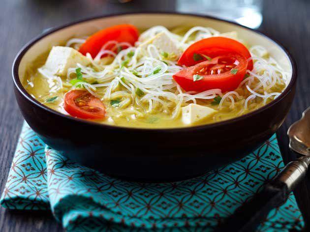 Nouilles au curry et à la noix de coco