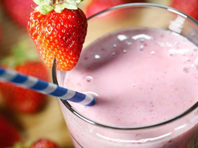 Délice aux fraises et aux bananes
